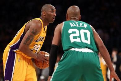 Kobe Bryant and Ray Allen, 2010 NBA Finals
