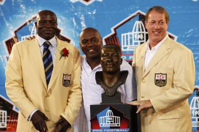 Hall of Famers Bruce Smith, Thurman Thomas and Jim Kelly