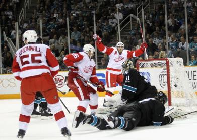 Detroit Red Wings vs San Jose Sharks