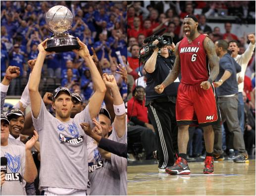 Dirk Nowitzki and LeBron James