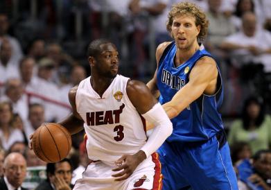 Dwyane Wade and Dirk Nowitzki 2011 NBA Finals