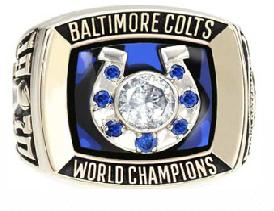 Baltimore Colts Super Bowl V Ring