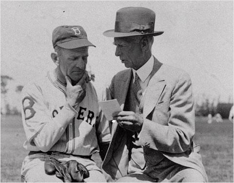 Casey Stengel and Connie Mack