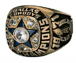 Dallas Cowboys Super Bowl VI Ring
