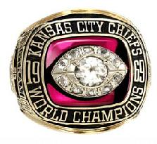 Kansas City Chiefs Super Bowl IV Ring