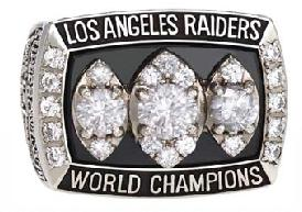 Los Angeles Raiders Super Bowl XVIII Ring