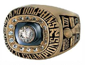 Miami Dolphins Super Bowl VII Ring