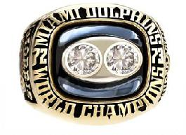 Miami Dolphins Super Bowl VIII Ring