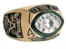 New York Jets Super Bowl III Ring