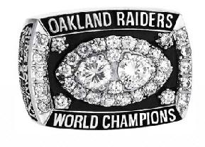 Oakland Raiders Super Bowl XV Ring