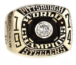 Pittsburgh Steelers Super Bowl IX Ring
