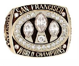 San Fancisco 49ers 1988 Super Bowl Ring