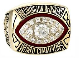 Washington Redskins Super Bowl XVII Ring