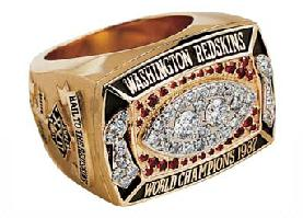 Washington Redskins Super Bowl XXII Ring