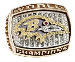 Baltimore Ravens Super Bowl XXXV Ring