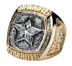 Dallas Cowboys Super Bowl XXX Ring