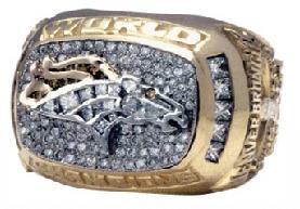 Denver Broncos Super Bowl XXXII Ring