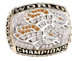 Denver Broncos Super Bowl XXXIII Ring