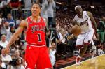 Derrick Rose Bulls and LeBron James Heat for East