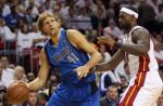Dirk Nowitzki and LeBron James in the 2011 NBA Finals
