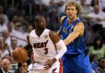 Dwyane Wade and Dirk Nowitzki 2011 NBA Finals