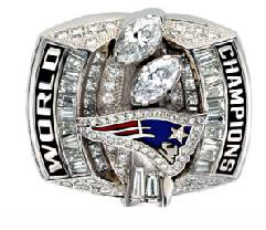 New England Patriots Super Bowl XXXVIII Ring