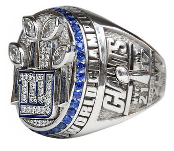 New York Giants Super Bowl XLVI Ring