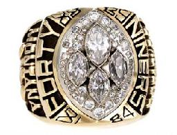 San Francisco 49ers Super Bowl XXIV Ring