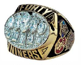 San Francisco 49ers Super Bowl XXIX Ring