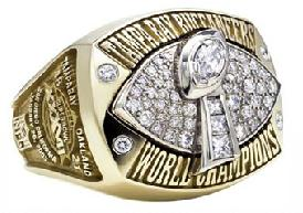 Tampa Bay Buccaneers Super Bowl XXXVII Ring