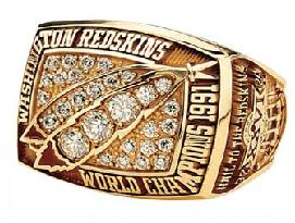 Washington Redskins Super Bowl XXVI Ring