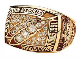 Washington Redskins Super Bowl XXVI Ring