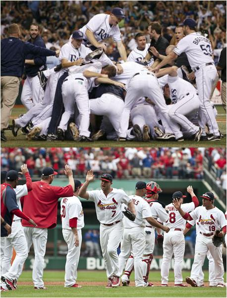 2011 Wild Card Winners, Tampa Bay Rays and St Louis Cardinals
