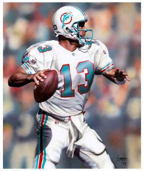 Dan Marino Gets Ready To Sling It