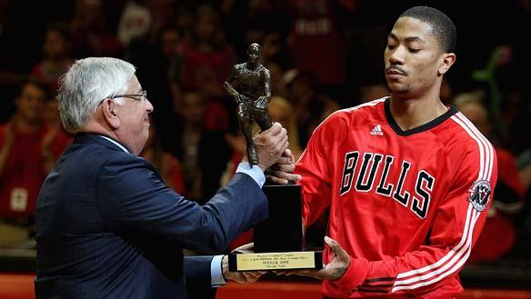 Derrick Rose Accepts the 2011 NBA MVP