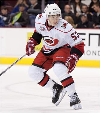 Jeff Skinner of the Carolina Hurricanes is the 2010-11 NHL Rookie of the Year