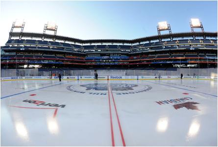 Citizens Bank Park in Philadelphia, Stage for the 2012 NHL Winter Classic