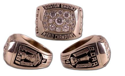 Boston Bruins 1972 Stanley Cup Ring