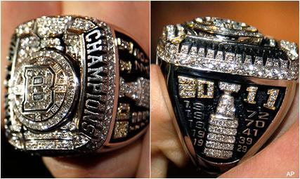 Boston Bruins 2011 Stanley Cup Ring