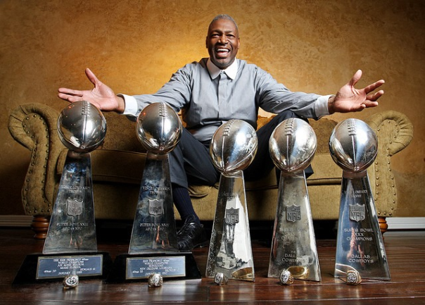 Charles Haley, Five-Time Super Bowl Champion, And His Super Bowl Hardware