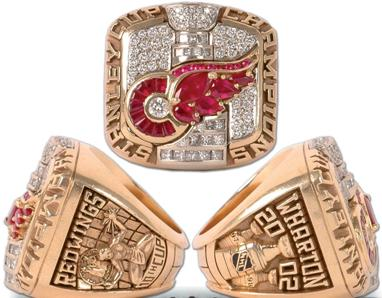 Detroit Red Wings 2002 Stanley Cup Ring