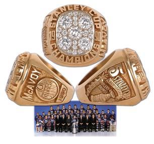 Edmonton Oilers 1990 Stanley Cup Ring