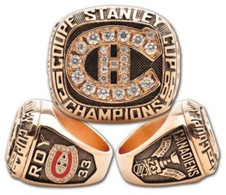 Montreal Canadiens 1986 Stanley Cup Ring