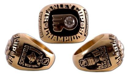 Philadelphia Flyers 1974 Stanley Cup Ring