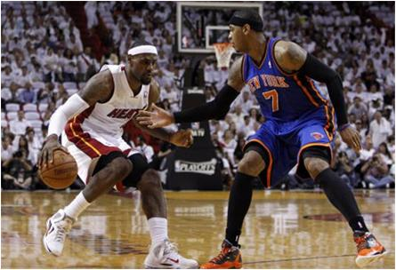 Carmelo Anthony and the New York Knicks, Swept by LeBron James and the Miami Heat