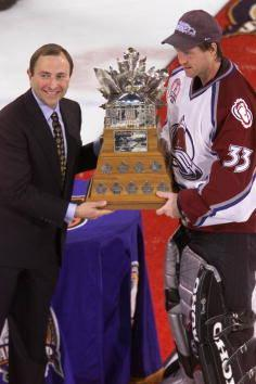 Patrick Roy Wins His Third Conn Smythe (and Fourth Stanley Cup)