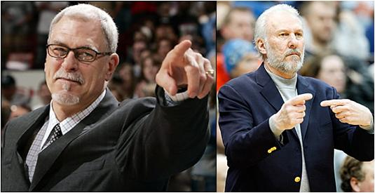 Phil Jackson and Gregg Popovich, Two of the Greatest Coaches in NBA History