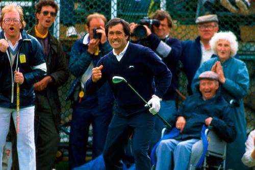 Seve Ballesteros on the 18th Hole at Royal Lytham & St Annes in 1988