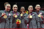 USA Women Win the 2012 Olympics Gymnastics Team All-Around Gold