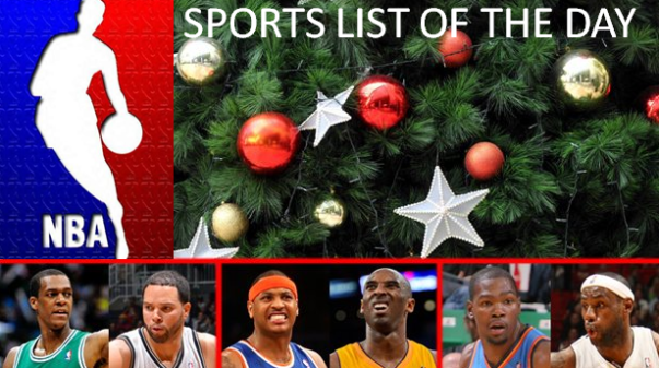 Christmas, the NBA and Sports List of the Day